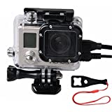 SmilePowo Side Openings Protective Shell Housing Case Camera Accessory - Skeleton Housing For Gopro Hero4 - HERO4 BLACK - HERO4 Silver - Hero3 - Hero3+ Camera Including Wrench