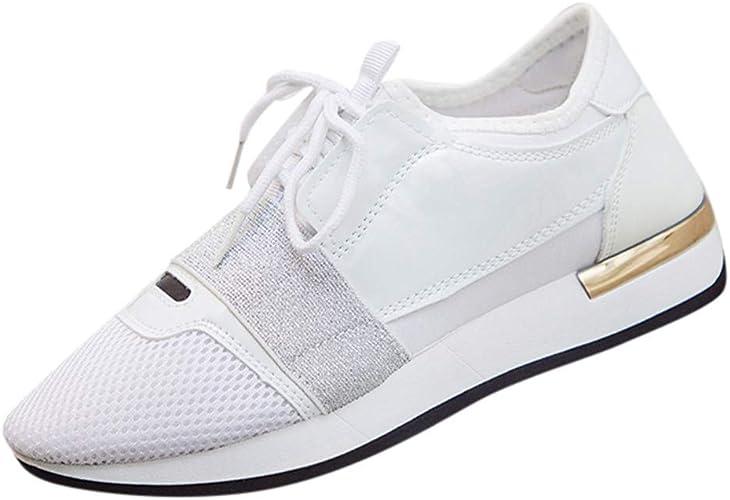 FAMILIZO Zapatillas Mujer Running Zapatillas Deportivas De Mujer Sneakers Women Primavera Zapatos Casuales De La Mujer Zapatos Bajos del Talón De Mujer Costura De La Parte Superior De Las Zapatillas: Amazon.es: Zapatos
