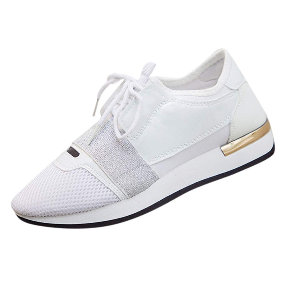 Howley Womens Fashion Casual Shoes Soft Low Heel Shoes Womens Stitching Low-Top Sneakers