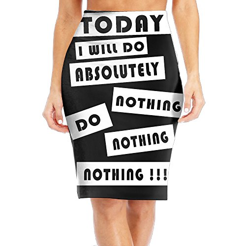 Womens Slim Long Sleeve Printing SkirtToday I Will Do Absolutely Nothing Classic Skirt