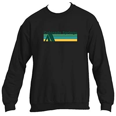 Tenn Street Goods Colorado Springs Retro Camping - Colorado Men's Crewneck Sweatshirt