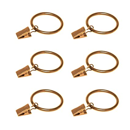 160760467fe Amazon.com  Coideal Gold Curtain Ring Clips with Eyelets