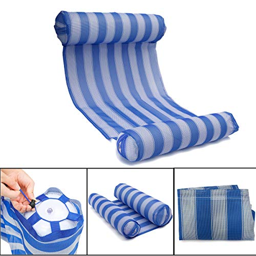 OUTERDO Water Hammock Pool Lounger Float Hammock Inflatable Rafts Swimming Pool Air Lightweight...