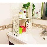 Garden Style Bathroom Shelves Waterproof Storage Rack White Bathroom Vanity Requisites Storage Commodity Shelf Corner Shelf