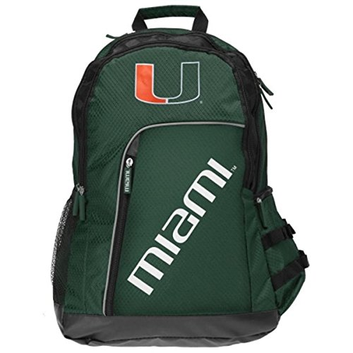 NCAA Miami Hurricanes 2014 Elite Backpack, Green, One Size by Forever Collectibles