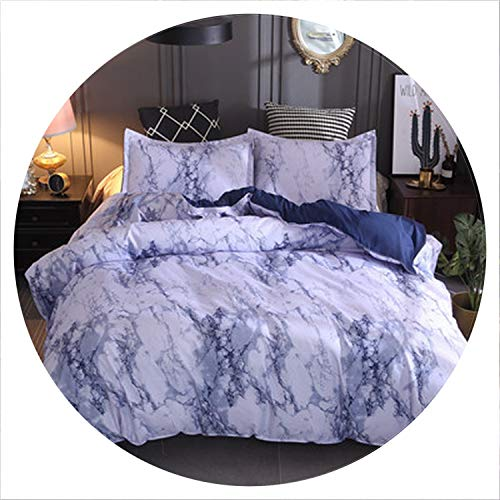 retro store Printed Marble Bedding Set White Black Duvet Cover King Queen Size Quilt Cover Brief Bedclothes Comforter Cover 3Pcs,Style 3,UK Double 200x200cm]()