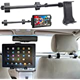 ChargerCity Premium Center Extension Car Seat Headrest Mount w/Universal Tablet Cradle Holder for Apple iPad Air Pro 12.9 Mini Samsung Galaxy Tab Surface Pro (Fits All 7-12 inch screens)