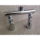 Dual Showerhead Bar with Jet Shower Heads - Chrome