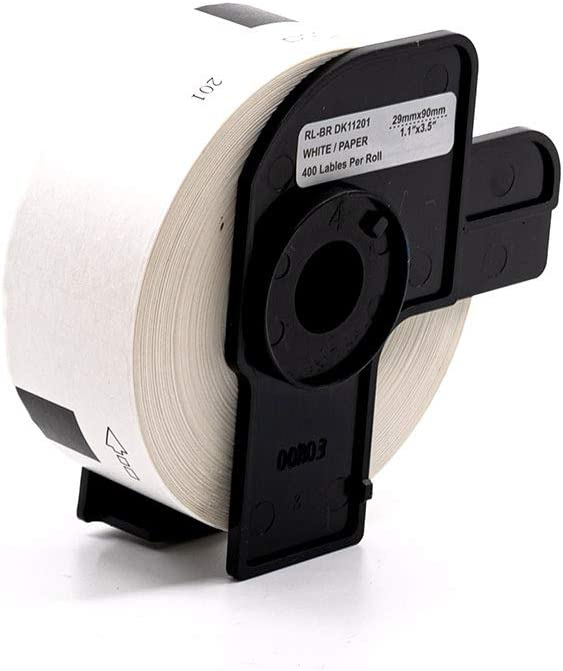DK1201 Black on White, 3 Pack MS Imaging Supply Label Tape Replacement for Brother DK-1201