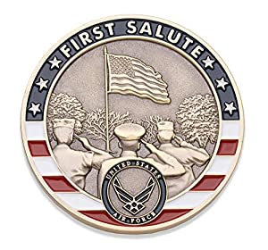Air Force First Salute Challenge Coin - United States Air Force Challenge Coin - Amazing US Air Force Military Coin - Designed by Military Veterans! by Coins For Anything Inc