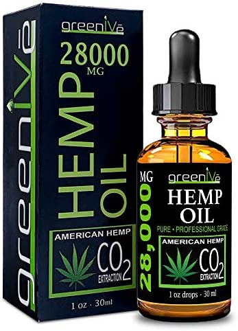 GreenIVe 28,000mg Hemp Oil with Vegan Omegas C02 Extraction Exclusively on Amazon (1)