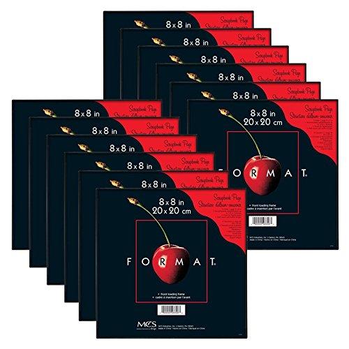 MCS 8x8 Inch Format Frame 12-Pack, Black -