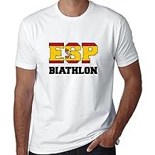 Hollywood Thread Spanish Biathlon - Winter Olympic - ESP Flag Men's T-Shirt