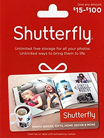 Amazon Com Shutterfly 50 Gift Card Gift Cards