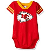 NFL Kansas City Chiefs Dazzle Bodysuit, 0-3 Months, Red