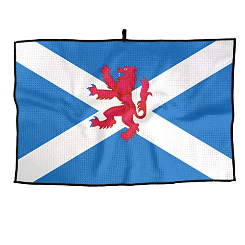 LETI LISW Golf Towel Independent Lion Rampant Scotland Flag Travel Towel for Travel Camping Gym Yoga Tennis Running & More