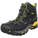 KEEN Utility Men's Pittsburgh Steel Toe Work Boot,Black,7.5 EE US
