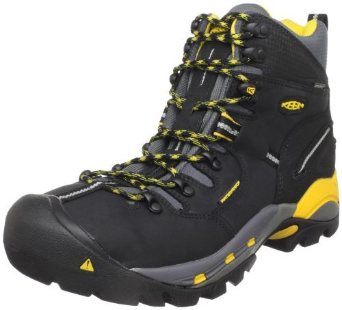KEEN Utility Men's Pittsburgh Steel Toe Work Boot,Black,9.5 EE US