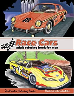 Race Cars Adult Coloring Book For Men Mens Of Muscle