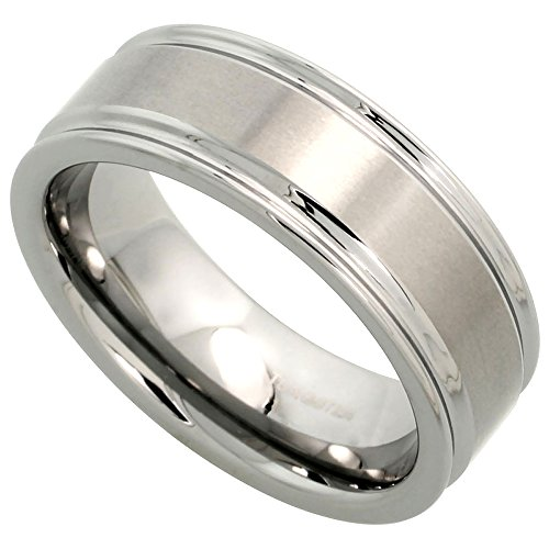 Tungsten Wedding Grooved Brushed Comfort