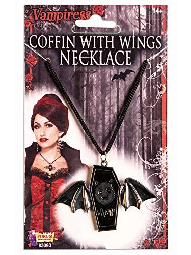 Coffin Halloween Costume (Forum Novelties Vampire Coffin with Wings Necklace Costume)