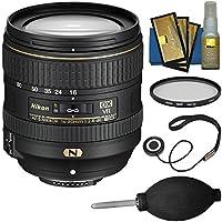 Nikon 16-80mm f/2.8-4E VR DX AF-S ED Zoom-Nikkor Lens with Filter + Kit for D3200, D3300, D5300, D5500, D7100, D7200 Camera