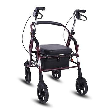 ... Plegable portátil Walker rollator polea Ajustable en Altura con Asiento para Personas Mayores para Comprar carritos de Verduras: Amazon.es: Hogar