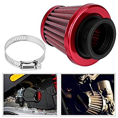 Qiilu 38mm Air Filter Intake Induction Kit for Off-road Motorcycle ATV Quad Dirt Pit Bike (Red): Automotive