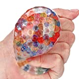 LHWY_Toy Spongy Rainbow Ball Toy Squeeze Stress Squishy Toy Stress Relief Ball For Fun Soft Decompression Toys
