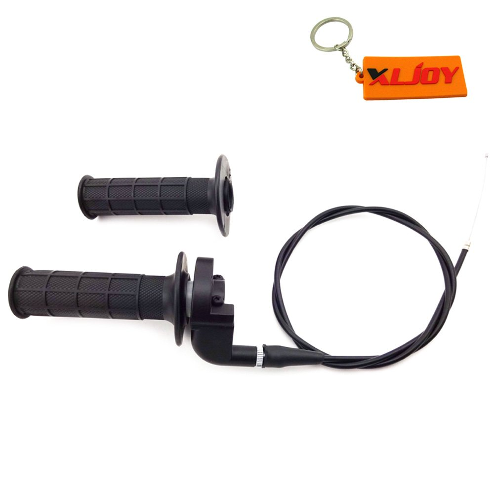 XLJOY Twist Throttle Hand Grips Cable Set For Honda CRF50 CRF70 CRF80 CRF100 CR80 CR60 CR85 CR125 CR250 Dirt Pit Bike