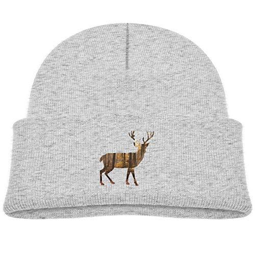 - Moniery Deer Forest Skull Hat Baby Boys Gray
