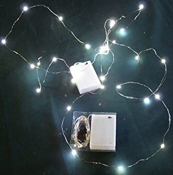 Micro LED White Lights on Ultra Thin Wire- Battery- 2 Sets-30 ...