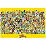 HUGE LAMINATED / ENCAPSULATED TV Cartoon Simpsons Full Cast Characters POSTER measures 36 x 24 inches (91.5 x 61cm)