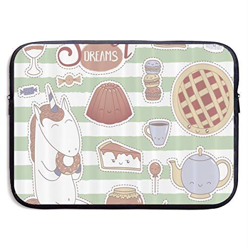 Unicorn Eating Donut Laptop Sleeve Case Bag Cover For 13-15