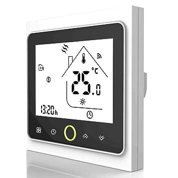 Termostato de agua programable de Wifi Controlador de temperatura de la pantalla LCD que funciona con Alexa Google Home 5A: Amazon.es: Bricolaje y ...