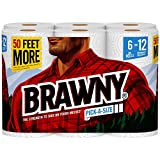 Brawny Paper Towels, 6 XL Rolls, Pick-A-Size, White, 6 = 12 Regular Rolls