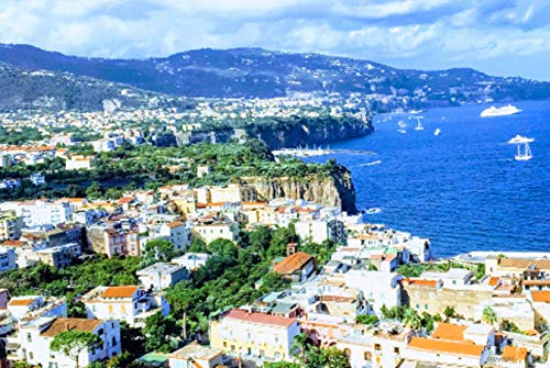 SyntacticRUs Designs Canvas Wall Art French Riviera Nice South France Bring The Cote D'Azur into Your Home or Office Single Print 16x20 Copyright
