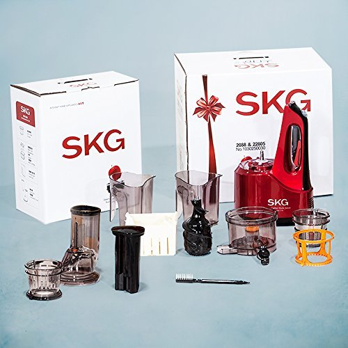 FREE SHIPPING SKG Wide Chute Anti-Oxidation Slow Masticating Juicer 240W AC Motor, 60 RPMs, 3 ...