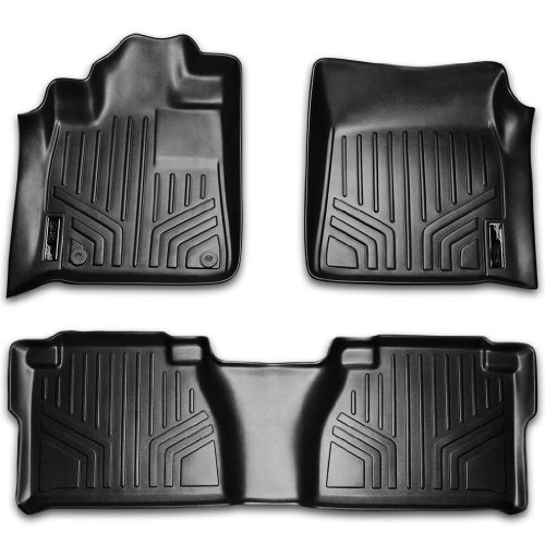 Maxfloormat Floor Mats For Toyota Tundra Double Cab 2014 2015 Complete Set Black
