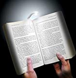 Inspiring Tech® Battery Powered Super Bright LED Clip-on Style Reading Book Night Light Lamp for Reading Mini Clip on Reading Light Unique Flexible Bright led Light(White)