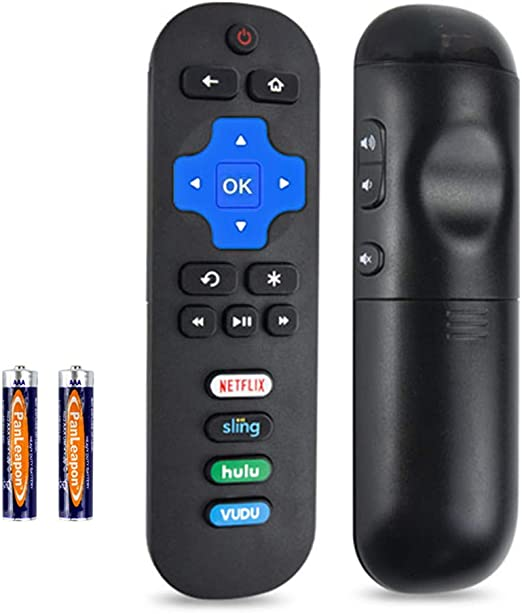 AZMKIMI RC280 Remote Replacement for 4k TCL Roku TV Remote with Netflix Vudu Rdio Key 55UP120 32S4610R 50FS3750 32FS3700 32FS4610R 32S800 32S850 32S3850 48FS3700 55FS3700 65S405 43S405 49S405 40S3800