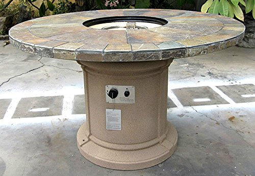 Gas Fireplace Fire Pit Outdoor Natural Slate 48 Quot Table