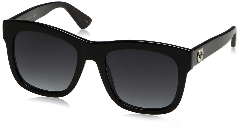 Gucci Unisex-Erwachsene Sonnenbrille GG0081SK 002, Schwarz (Black/Grey), 56