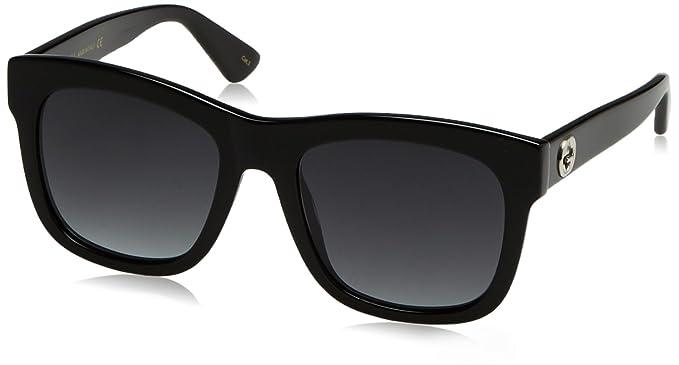 Gucci Damen Sonnenbrille GG0034S 001, Schwarz (Black/Grey), 54