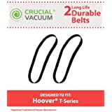 2 T-Series Non-Stretch belts for Hoover Rewind Upright Vacuums; Compare to Hoover Part Nos. 562289001, AH20065; Designed & Engineered by Think Crucial