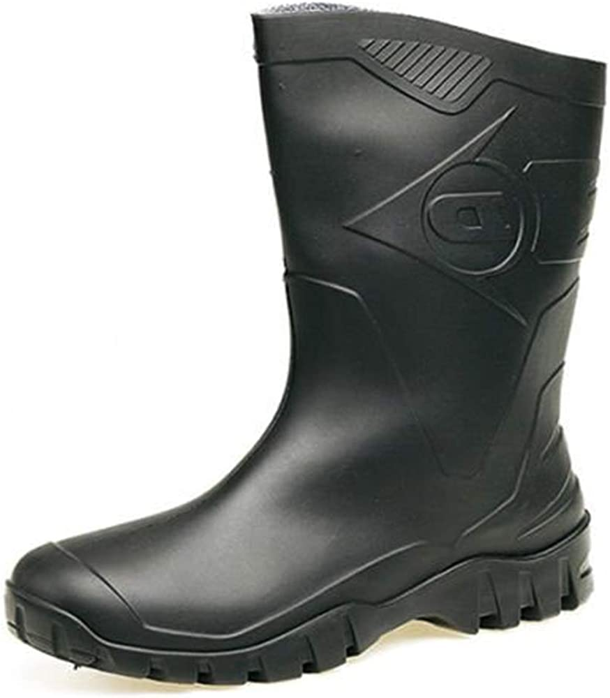 a73a029e0cb Womens Dunlop Short Half Length Ankle Wellington Wellies Boots WIDE FIT  CALF UK 4 -9 BLACK