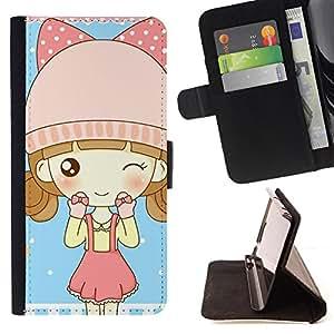 Pattern Queen - Freaky Funny Pattern - FOR Samsung Galaxy S6 - Funda de cuero ranuras para tarjetas de credito de la cubierta Flio tarjeta de la carpeta del tiron
