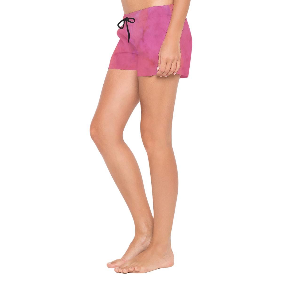 DEZIRO Rose Bengal Watercolor Surf Womens Breeze Boardshort Swim Shorts