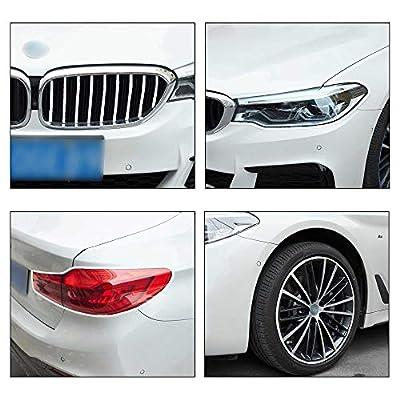 TOMALL 8M Car Wheel Hub Decorative Protection Ring Tire Sticker Guard Strip hub Anti-Collision Strip Wheel Hub Rubber Scratch Prevention (Blue): Automotive