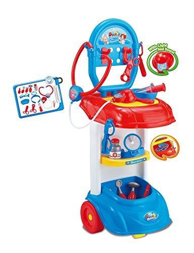 Amazon Com Kids Doctor S Set Medical Playset Trolley Nurse Medic